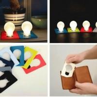 Lampu emergency darurat setipis kartu atm LED card senter dompet lipat