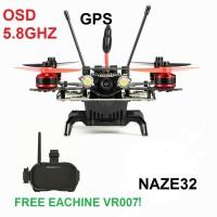 Jual quadcopter Eachine Assassin V2 arf gps fpv racing 5.8G NAZE32 + vr007 Murah