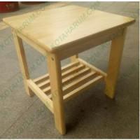 Jual Meja sudut sofa kotak pendek kayu ramin bukan pinus kuning bandung Murah