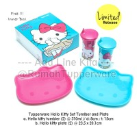 Tupperware Hello Kitty Set Tumbler and Plate 2set