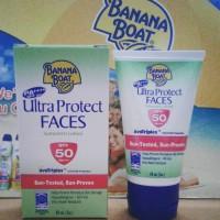 Jual Banana Boat Ultra Protect Faces Sunscreen Lotion SPF 50 - 60 ML Murah