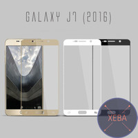 Samsung Galaxy J7 2016 J710 Full Curve Tempered Glass Anti Gores Warna