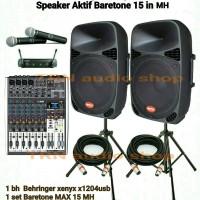 Paket Sound Mixer Behringer Xenyx X1204USB + Baretone Aktif 15 MH