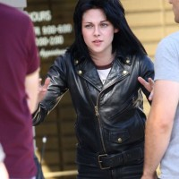 Sintetis Jaket Semi Kulit Kristen Stewart Film Runaways