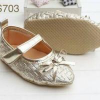 Sepatu Prewalker Premium Gold Little Ribbon - Sepatu bayi Sepatu anak