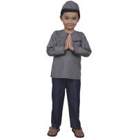 Setelan Baju Koko Anak Abu Biru - CDN 255 - Catenzo Junior CJr
