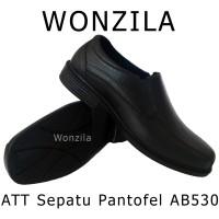 Jual ATT AB530 Sepatu Pantofel Anti Air Bahan Karet Lentur Pantofel Formal Murah