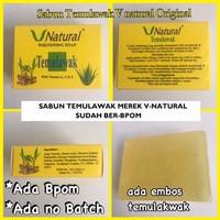 V Natural Whitening Soap Temulawak / Sabun Temulawak Original BPOM