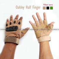 Glove Oakley Half Finger Sarung Tangan Tactical Airsoft Gun Touring 02
