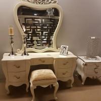 Meja Rias Luxury [Pook, Meja + Kaca Rias Cantik + Lux Drawer]