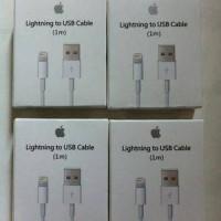 Jual KABEL DATA USB IPHONE 5 6 7 CHARGER LIGHTNING ORIGINAL APPLE IPAD MINI Murah