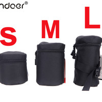 Waterproof Padded Protector Camera Lens Bag Case Pouch For DSLR Lenses