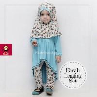 Baju Muslim Anak Casual 1-2 th - Farah Legging Set Biru