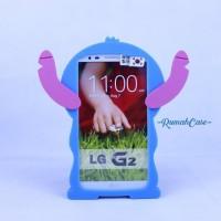 LG G2 STITCH 3D Cute Case Karakter silicone Casing Lucu soft cover