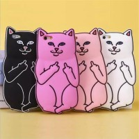 Silicon 3D 4D Cat Kucing Oppo A59 Softcase Casing Hp