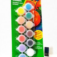 Reeves Acrylic Set 12 Warna (Pots 5ml) Limited