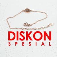 Tiaria 18K Gold Cancer Zodiac Bracelet Perhiasan Gelang Emas