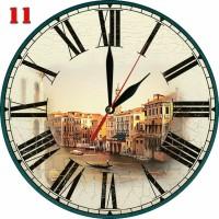 Dekorasi Ruang Jam Dinding Style Background Kota Tua