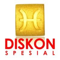 Tiaria 9K Yellow Gold Charm Bracelet Pisces Gelang Emas