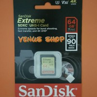 SANDISK SD CARD EXTREME 64GB 90MB / S - SDCARD EXTREME 64 GB 90 MBPS