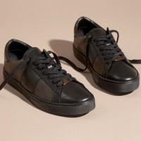 Jual Burberry Ritson London Check Sneakers 100% Authentic Murah