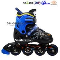 Power King Sepaturoda Inline Roda FULL Karet Biru / Sepatu roda