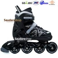 Power King Sepaturoda Inline Roda FULL Karet Hitam / Sepatu roda