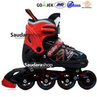 Power King Sepaturoda Inline Roda FULL Karet Merah / Sepatu roda