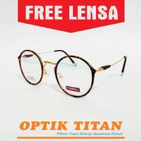 Jual Frame Kacamata Minus Baca Vintage Bulat Besar 9183 Leopard Murah Murah
