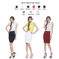 Jual Midi Bodycon Skirt / Rok / Bawahan Murah