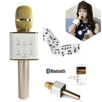 Mic Karaoke bluetooth Smule Bigo Mp3 You Tube Video Meeting KTV Q7