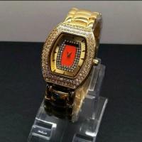 Jam Tangan Wanita Richard Mille Syahrini Rantai Gold Diamond Kw Super