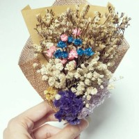 Magic flower DRIED FLOWERS BOUQUET - Snowy flower, Buket bunga kering
