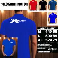 Polo Shirt Motor Yamaha yzf R 25 Font/Baju Kaos Kerah Otomotif Motor
