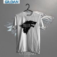 Game Of Thrones-Stark Sigil Printed in Gildan Shirt