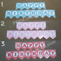 Bunting Flag / Banner / Bendera Ultah Pesta Happy Birthday HBD Murah