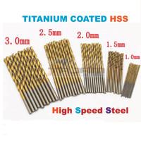 Mata Bor 3.0mm Tanium Coated HSS High Speed Steel Drill