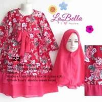 Baju Gamis/Muslim Anak Labella (Usia 7 - 9th) SB MS1-C2 Syar'i No.22
