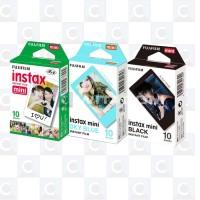 Fujifilm Instax Mini Film 3 Packs - Sky Blue , Black and Plain