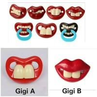 Jual dot empeng bayi unik lucu gigi bibir merah funny baby teeth pacifier Murah