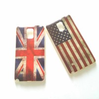 Case Samsung Note 4 soft jacket flag printed us uk