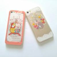 Case iphone 5 5s alice in wonderland rabbit lucu soft jacket