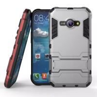 Soft Hard Case Casing HP Samsung J1 Ace Armor Stand Silikon Hardcase