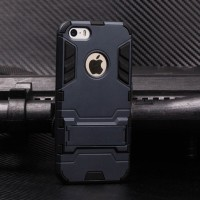Soft Hard Case iPhone 5/5s/SE Casing HP Cover Armor Silikon Stand Army