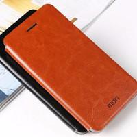 Lather Case Flip Kulit Lenovo P70/Zenfone 2 5.5 INCH Mofi Soft Casing