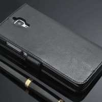 Xiaomi Mi4 Leather Case Flip Wallet Cover Dompet Kulit Hp
