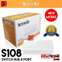 NEW!!! Switch Hub TENDA S108 8 Port 10/100 Fast Ethernet RJ45 LAN 108