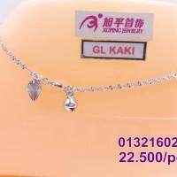 harga Xuping Gelang Kaki Klinting Emas Putih 0132160256 Tokopedia.com