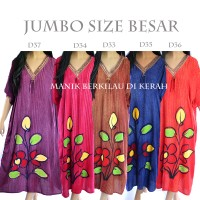 Jual Baju Tidur Daster Batik Jumbo Big Size Rayon XXXL D33D34D35D36D37 Murah