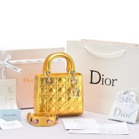 Tas Dior My Lady Cannage Small Lucky Badges Gold-Tone SOL77018